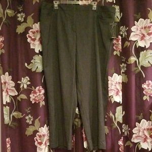 Avenue Grey Slimming Trousers Size 22 Petite